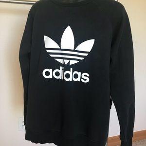 Men's Adidas Sweatshirt Black/White XL